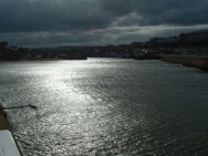 Bad skies over Whitby harbour