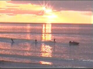 Sunset & Water Skiers at Whitby