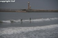 Surfing in Whitby