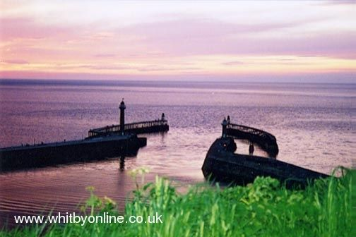 Whitby piers