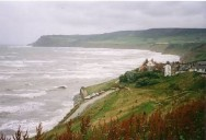 A stormy Robin Hoods Bay