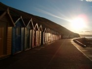 beach huts at west beach
