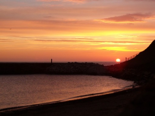 sunrise over whitby