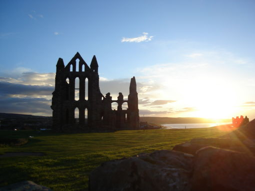 Sunset through the Abbey