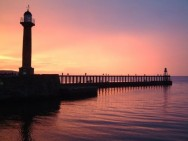 Red sky at night, Whitby delight